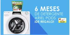 6 meses de detergente ariel pods por la compra de una lavadora o lavasecadora CANDY