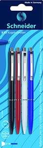 4 Bolígrafos Retráctiles Schneider K 15 Colores Surtidos