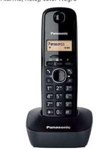 Panasonic Teléfono Fijo Inalámbrico DECT, LCD, Identificador de Llamadas, Agenda de 50 Números, Tecla de Navegación, Alarma, Reloj,