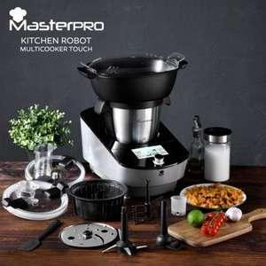 Robot de cocina Masterpro Multicooker Touch WiFi Negro 1000W (conexión Wi-Fi y Pantalla Táctil)