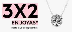 Pandora 3x2 en joyas