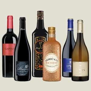 Pack de 6 botellas: 2 vermuts y 4 vinos