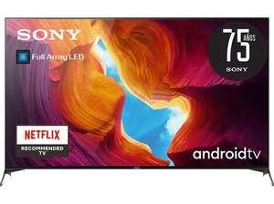"TV LED 75"" - Sony KD-75XH9505BAEP, UHD 4K, HDR, Android TV, X1 Ultimate, Full Array LED, Búsqueda por voz"