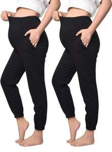 2 PCS Pantalones Casuales de Maternidad
