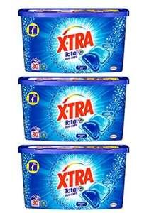 X•TRA Total+ Duo Caps - Detergente universal en cápsulas - 90 lavados (lote de 3 x 30 dos)