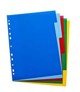 Separador para archivadores Elba (A4, 5 partes), multicolor