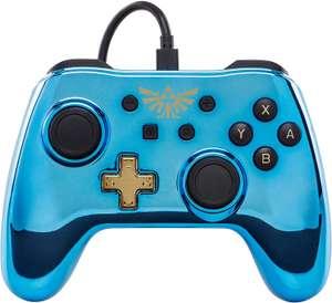 Mando azul cromado Legend of Zelda para Nintendo Switch (Licencia Oficial) por sólo 16,17€
