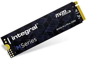 Integral Disco Duro sólido 512 GB SSD NVME M.2 2280 PCIe Gen3x4 R-2000 MB/s W-1600 MB/s TLC M1