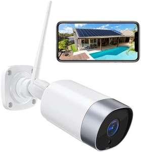 Cámara wifi exterior, IP 66, audio bidireccional, 1080P , visión nocturna y detección de movimiento