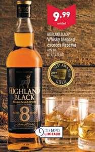 Whisky 8 años Highland Black blended scotch (galardonado en 2018 mejor whisky del mundo < 12 años)