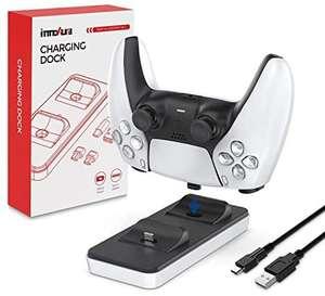 Cargador Dual de mandos PS5 con 2 Puertos de Carga Tipo C extraíbles (Blanco)