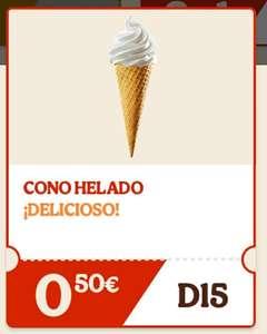 Cono de helado a 0'50 en Burguer King