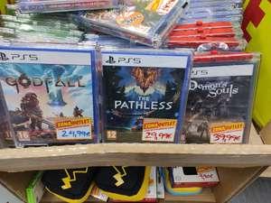 Juegos varios de ps5 en oferta zona outlet Mediamarkt (Barakaldo)