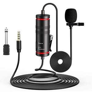 Micrófono de solapa para Cámara/PC/Android, Reducción de Ruido para Grabación de Video DSLR YouTube, Podcast..