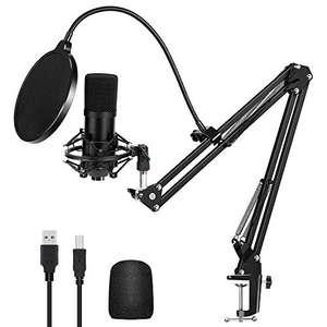 Micrófono de Condensador USB con Soporte de 192 kHz / 24 bits