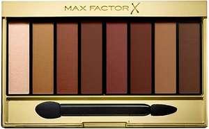 Max Factor Masterpiece - Paleta de sombra de ojos mate Sunset 07, 8 tonos marrones con acabado sedoso mate y brillante