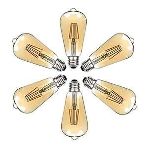 6 Bombillas E27 LED Edison Retro