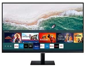 SAMSUNG Monitor Smart de 32'' FullHD, 1920x1080, Smart TV Apps, TV Plus, Altavoces, WiFi, Bluetooth, VA, diseño sin Marcos