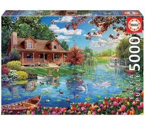 Puzzle Educa 5000 piezas, Casita en el lago.