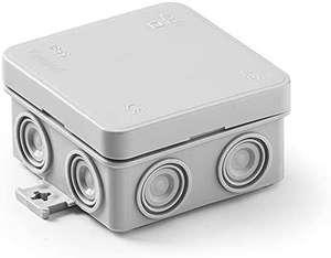 (agotado)Caja estanca Minibox | Tapa a presión | 75x75x39 | Gris