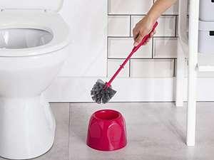 Escobillero para WC Rosa