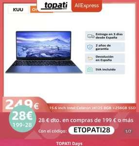 Portátil Kuu a10 8gb 256ssd procesador 4 núcleos con envío ESPAÑA Inter