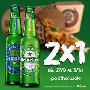 En Padthaiwok 2x1 en cerveza Heineken para consumir en local o take away