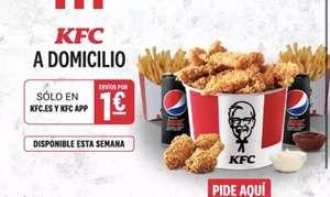 Envío a domicilio por 1 euro en KFC sin mínimo