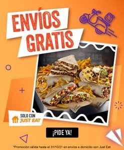 Envío gratis en Taco Bell por Just Eat (mínimo 5€)