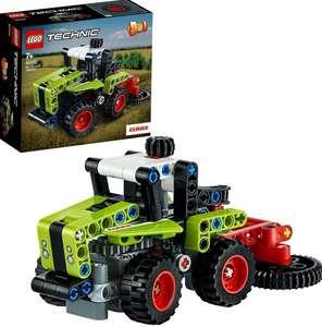LEGO Technic 2en1 Mini CLAAS XERION:Tractor o Cosechadora | Minicargadora:Excavadora o Hot Rod