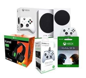 Consola Xbox Series S + 2º Mando PDP + Auriculares Kunai Tritton + Juego Digital