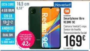 Xiaomi Redmi 9C 4/128gb + Vale de 42€