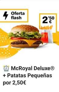 MC Royal Deluxe + patatas a 2,50€