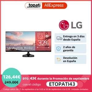 "LG 25UM58-P - Monitor Profesional UltraWide FHD de 63,5 cm (25"") con Panel IPS"