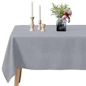 Mantel Rectangular 100% Poliéster Resistente a las manchas (Color plata, 178x305 cm)