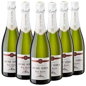 Jaume Serra Brut Nature Reserva - Cava Premium - 6 Botella x 750 ml