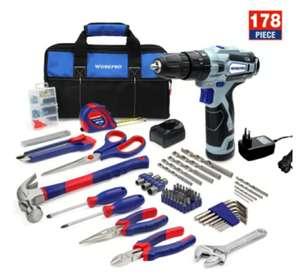 WORKPRO-kit de herramientas para el hogar destornillador eléctrico inalámbrico, por 49,75€ _ desde España_,
