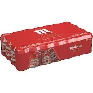 MAHOU 5 ESTRELLAS Cerveza rubia especial pack 28 latas 33 cl (comprando 2 packs)