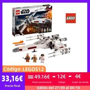 LEGO Star Wars Caza Ala-X de Luke Skywalker, Juguete con Figura de Princesa Leia y R2-D2 Droide