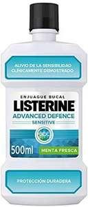 4 unidades de Listerine enjuague bucal Advanced Sensitive