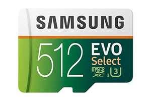 Tarjeta Memoria Samsung EVO Select 512 GB microSD 100 MB/s, velocidad Full HD & 4K UHD
