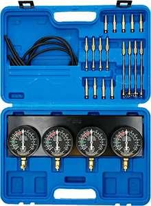 Comprobador de carburador sincronizado con 4 relojes de sincronización, 26 piezas