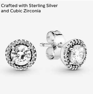 Pandora Pendientes de botón Mujer plata (Seleccionad vendedor amazon)