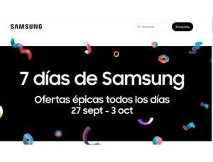 7 días SAMSUNG ofertas épicas todos los días hasta el 3 de octubre 2021 incluido