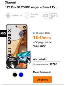 """Xiaomi mi 11 t pro + TV 32"""" de regalo (24 meses de permanencia)"""
