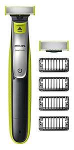Philips OneBlade QP2530/30 - Recortador de barba, recorta, perfila y afeita, enchufe inglés (importado UK)