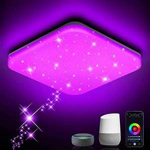 Plafon LED Techo Regulable 24W lampara techo Iluminación Rgb