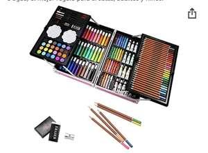 Maletín 145 piezas ,lápices profesionales de dibujo, pinturas etc