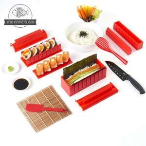 Equipo para Hacer Sushi Edición Cuchillo de Sushi y Tutoriales en Video Online - Set de Sushi de 11 Piezas