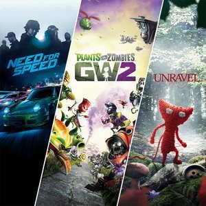 Paquete familiar de EA: Unravel + Need for Speed + Plants vs. Zombies™ Garden Warfare 2 (PS4/PS5) por solo 3,99€